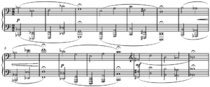 Twelve-tone technique - Image: Hauer Nomos Op. 19, beginning