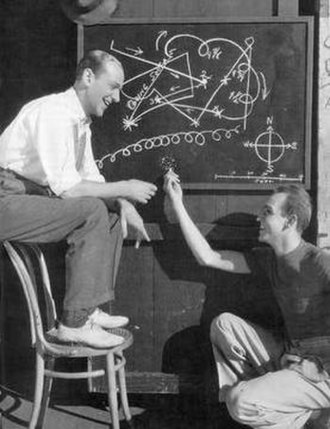 Hermes Pan - Fred Astaire and Hermes Pan working out a dance routine, c. 1937