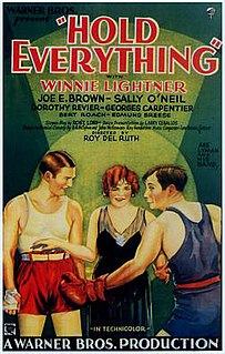 <i>Hold Everything</i> (film) 1930 film by Roy Del Ruth