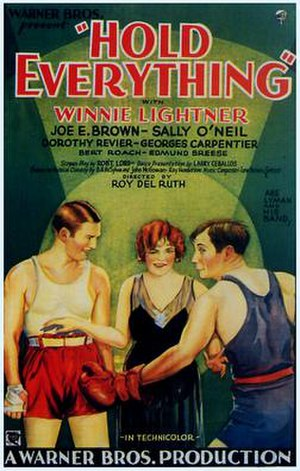 Hold Everything (1930 film) - theatrical release poster