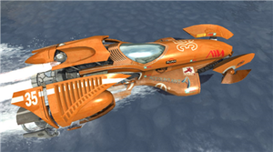 Hydro Thunder Hurricane - The Tempest Pack downloadable content adds three tracks, and two new boats, including the Whiplash (pictured). While the game itself utilized redesigned versions of the original Hydro Thunder boats, the Tempest Pack boats are entirely new to the series.