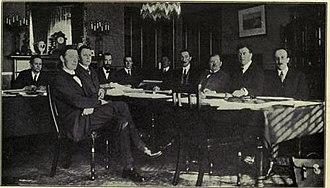 James McNeill - The Constitution Committee meeting at the Shelbourne Hotel, Dublin. James McNeill is seated fourth from the right.