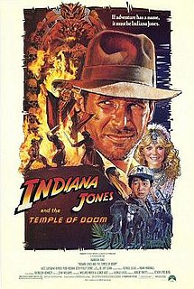 <i>Indiana Jones and the Temple of Doom</i> 1984 film by Steven Spielberg