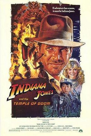 Indiana Jones and the Temple of Doom - Image: Indiana Jones and the Temple of Doom Poster B