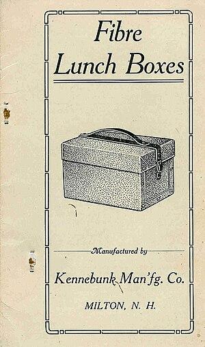 Milton, New Hampshire - Kennebunk Manufacturing Company Fibre Lunch Box Catalog cover
