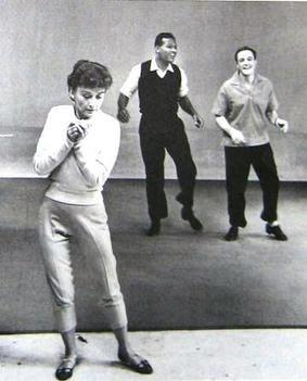 Kelly in rehearsal