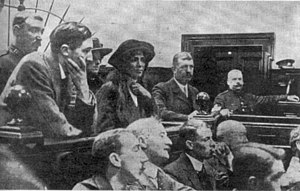 Lilian Lenton - Lenton and Harry Johnson (left) in the dock at Leeds Assizes in June 1913