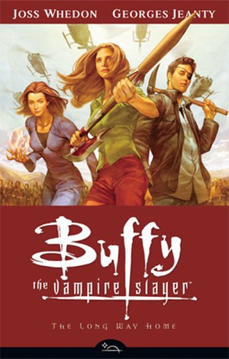 Buffy the Vampire Slayer Season Eight - Trade paperback cover of The Long Way Home. Art by Jo Chen.