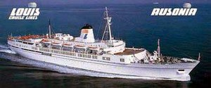 The Ausonia, a cruise liner Louis owned from 1...