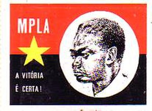 "MPLA - MPLA poster. The slogan translates as ""Victory is certain""."