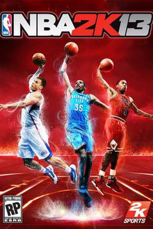 NBA 2K13 - Cover art featuring (from left to right) Blake Griffin, Kevin Durant and Derrick Rose
