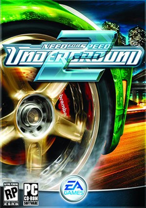 Need for Speed: Underground 2 - North American cover art featuring a Nissan 350Z