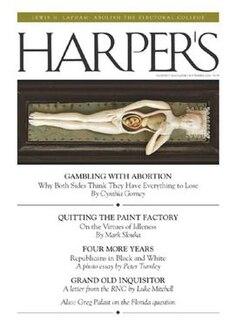 <i>Harpers Magazine</i> magazine