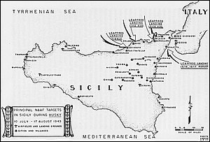 Northwest African Air Forces - Principal Sicilian targets of the Northwest African Air Forces for Operation Husky.
