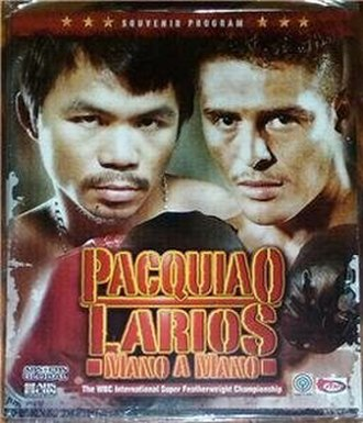 Manny Pacquiao vs. Óscar Larios - Image: Pacquiao Larios Poster