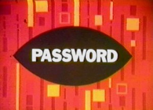 Password (game show) - Image: Password (TV series) 1967