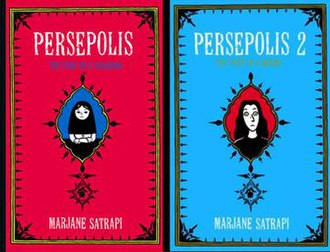 Persepolis (comics) - Covers of the English version of Persepolis Books 1 and 2