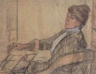 Lily Blatherwick - Lily Blatherwick Painting by Archibald Standish Hartrick