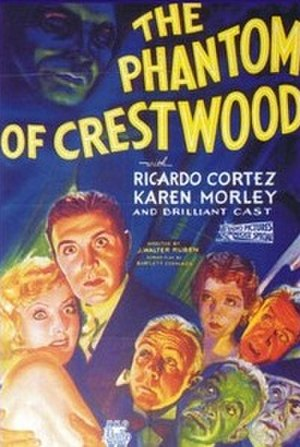 The Phantom of Crestwood - original theatrical poster