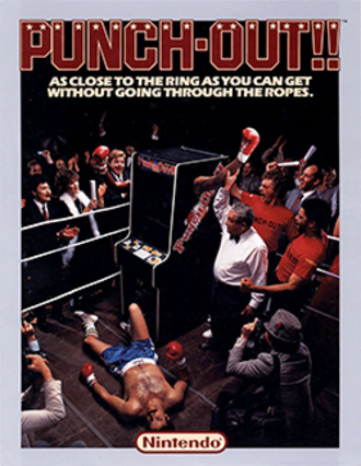 Punch-Out!! (arcade game) - North American Punch-Out!! arcade flyer