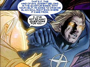 Quasar (comics) - Wendell Vaughn and Phyla-Vell, both versions of Quasar