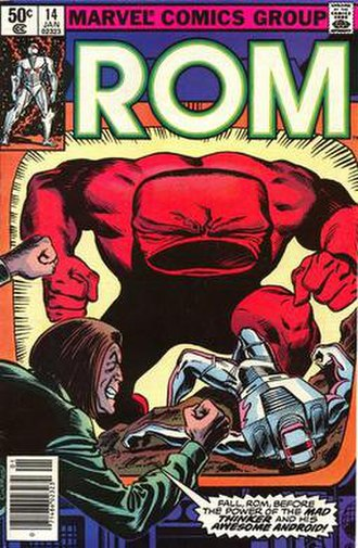 Awesome Android - Image: ROM no. 14 (Marvel Comics front cover)