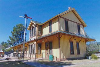 Patagonia, Arizona - Historic railroad depot built in 1900.
