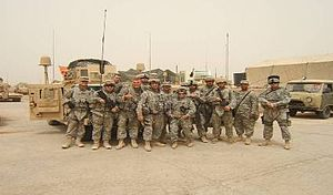 37th Infantry Brigade Combat Team (United States) - 1–125th IN after combat patrol, Ramadi, Iraq 2008