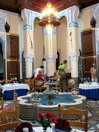 No Line on the Horizon - For two weeks from May–June 2007, U2, Eno, and Lanois wrote and recorded music in a Moroccan Riad similar to the one pictured.