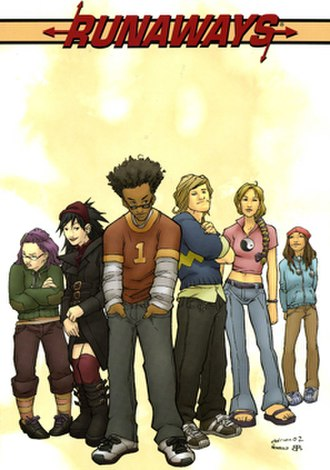 Runaways (comics) - Runaways Vol. 1 hardcover. Art by Adrian Alphona