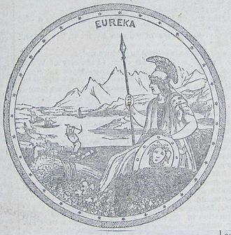 Great Seal of California - 1849 illustration of the Seal of California that accompanied Bayard Taylor's description