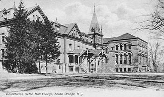 Seton Hall University - Postcard showing Stafford Hall, one of the first dormitories, in the late 19th century