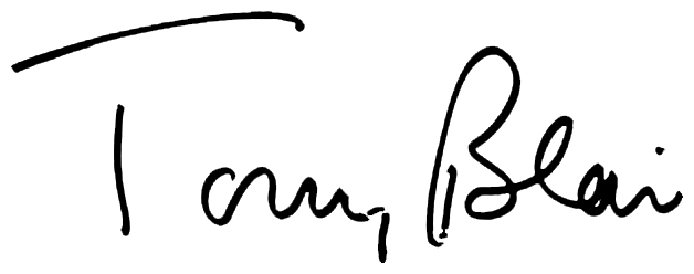 Tony Blair's signature