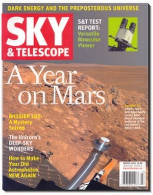 Sky & Telescope - The front cover of the March 2005 issue.