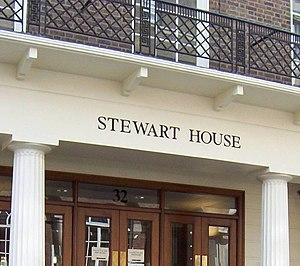 University of London International Programmes - Image: Stewart House, University of London (front entrance)