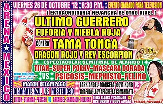 CMLL Super Viernes (October 2012) - Promotional poster for the October 26 Super Viernes event