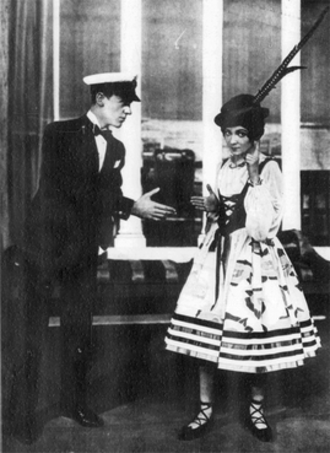 """Lady, Be Good (musical) - Fred and Adele Astaire perform """"Swiss Miss"""" in the London production"""
