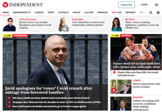 <i>The Independent</i> British online daily newspaper