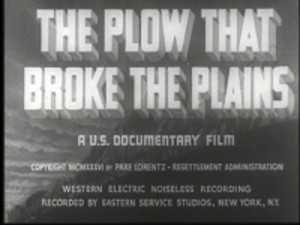 The Plow That Broke the Plains - Image: The plow that broke the plains