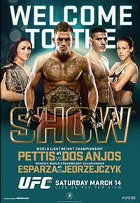 A poster or logo for UFC 185: Pettis vs. dos Anjos.