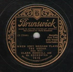 When Icky Morgan Plays the Organ - Image: When Icky Morgan Plays the Organ Glenn Miller 1935