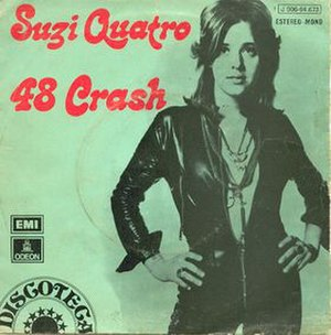 48 Crash - Image: 48 Crash (Suzi Quatro single cover art)
