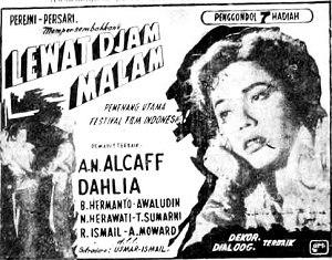 Lewat Djam Malam - Image: Ad for Lewat Djam Malam 15 August 1955 KR 1