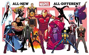 All-New, All-Different Marvel - Characters on the All-New All-Different Marvel poster