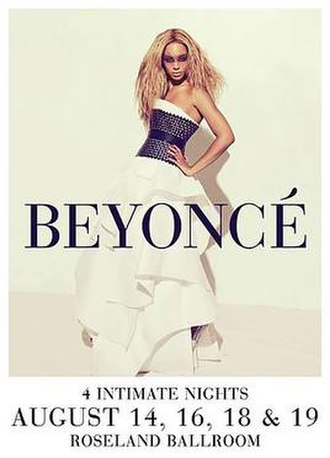 4 Intimate Nights with Beyoncé - Image: Beyonce 4 revue poster