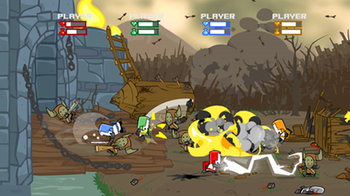 Castle Crashers features four player cooperati...