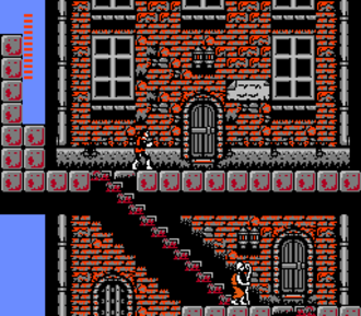 Castlevania II: Simon's Quest - When night time occurs in Simon's Quest, enemies become stronger.