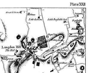 Barstable Hundred - Image: Chapman & Andre map fragment