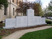 The Harrison County Memorial to the County's War Casualties.