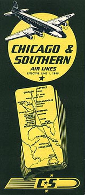 Chicago and Southern Air Lines - Image: Cs 490601